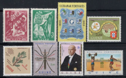 Guinée Portugaise 1950-72 Neuf ** 100% Cloches, Ange, Nature, Insectes, Tige - Portuguese Guinea