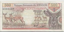 RWANDA P. 13a 500 R 1978 XF - Rwanda