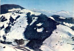 Flugaufnahme Skigebiet Atzmännig Goldingen (SG) - Hotel-Restaurant Talstation (4928) - SG St. Gall