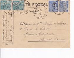 Carte De Franchise Militaire Affranchie De Aouste Dur Sye Drome 1944 - Marcophilie (Lettres)