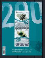 N°BL253 Universiteit Luik 2017 MNH ** POSTFRIS ZONDER SCHARNIER SUPERBE - Bloques 1962-....
