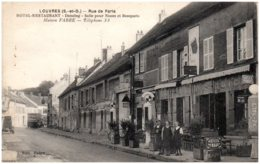 95 LOUVRES - Rue De Paris - Hotel-restaurant Maison Fabre - Louvres