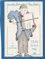 MON VIOLON DINGUE C'EST LA CARTE POSTALE 3EME SALON CARTOPHILE TOURS 20 AVRIL 1986 JEAN LUC PERRIGAULT - Other Illustrators