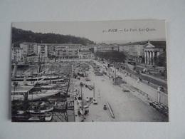 CPA   06 NICE Le Port Les Quais TBE - Transport Maritime - Port