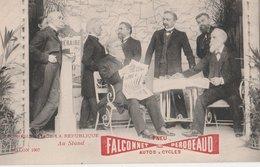 LE PRESIDENT DE LA REPUBLIQUE (Armand Fallières), Salon 1907. Au Stand Falconnet-Perodeaud (Pneu Pour Autos & Cycles) - Histoire
