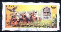 2015; Tag Der Märtyrer - Omar Mukthar  Leicht Defekt! Gestempelt; Los 52428 - Libia