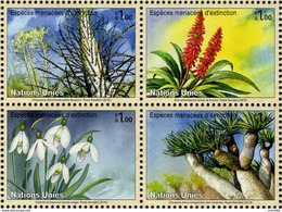 United Nations - Geneva - 2010 - Endangered Species - Flora - Mint Stamp Set (se-tenant Block) - Neufs