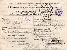 Lettre Pour Prisonnier De Guerre Expédiée De HUY Vers Stalag IV A Et Retournée à L'expéditeur - Lettres