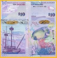 Bermuda10 Dollars P-59a 2009 UNC Banknote - Bermudas