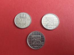 25 Cent 1972,1989,1995 - Pays-Bas