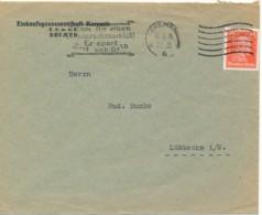 Allemagne 1928 - Timbre Perforé EGK - Einkaufgenossenschaft Keramik - Central Achat Céramique - Covers & Documents