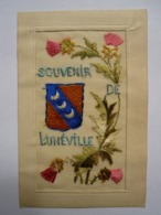 CPA Brodée Souvenir De Lunéville - Brodées