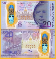 Scotland 20 Pounds P-new 2020 Commemorative Bank Of Scotland Prefix QC UNC Polymer Banknote - Zonder Classificatie