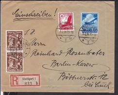 Einschreibbrief Deutsches Reich Stempel Stuttgart 1936 - Germany