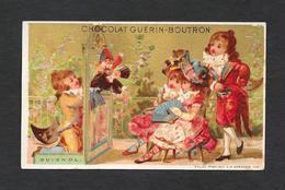 Chromo Doré Lith Vallet&Minot - CHOCOLAT GUERIN-BOUTRON  ''Guignol''  6,4x10,6 PERFETTA - Guerin Boutron