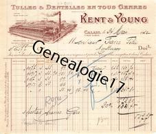 62 0977 CALAIS PAS DE CALAIS 1910 Tulles Dentelles KENT - YOUNG Rue Auber Dest FAVRE FELIX - Textile & Vestimentaire