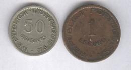 Lot 50 Centavos 1949 Et 1 Escudo 1953 Cap Vert - Cabo Verde - Colonie Portugaise - Cape Verde