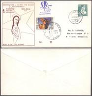 """Lettre Illustrée """"Courrier Par Ballon / Ballonkurier"""" (Reuland, 1975) > Bruxelles / N°35 - Aéreo"""