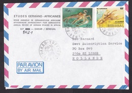 Senegal: Airmail Cover To Netherlands, 1988, 2 Stamps, Octopus, Fish, Sea Life, Rare Real Use (minor Damage) - Sénégal (1960-...)
