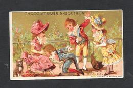 Chromo Doré Lith Vallet&Minot -CHOCOLAT GUERIN-BOUTRON  ''La Main Chaude''  6,4x10,6 PERFETTA - Guerin Boutron