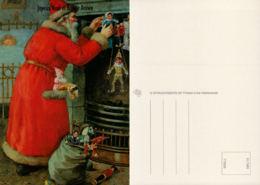 Père Noel, Hôte, Jouets, Cheminée, Arlequin - Santa Claus