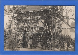 28 EURE ET LOIR - TOURY Fêtes Des 30 Et 31mai 1909, Carte Photo, Décoration Du Magasin CHASLES SICOT - Other Municipalities