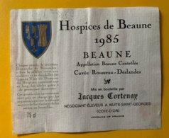 13741 - Hospices De Beaune 1985 Beuane Cuvée Rousseau-Deslandes - Bourgogne