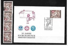 1536u: Heimatbeleg 3032 Eichgraben, Samariterbund- Beleg Und 4 Postfrische/ Gestempelte Briefmarken - St. Pölten