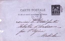 Entier Postal 10 C Sage - Paris - Boulevard Saint Germain - Ganzsachen