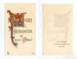 Vincennes, Communion De Marie Péronnet, 1948, Lettrine, Enluminure - Devotion Images