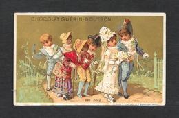 Chromo Doré Lith Vallet&Minot - CHOCOLAT GUERIN-BOUTRON  ''Une Noce'' 6,4x10,6 PERFETTA - Guerin Boutron