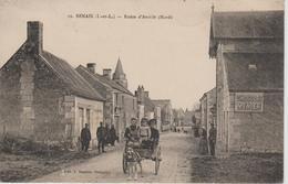 BENAIS         ROUTE D'AVRILLE          ATTELAGE DE CHIENS - France
