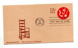 Lettre Entiere 13 C Fdc  Instrument Illustré Chaise - Postal Stationery