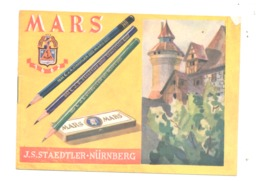 """Plaquette Publicitaire De 8 Pages - Crayon """" MARS """" De J.S. Staedtler - NÜRNBERG - Ecole, écriture,.. (b247) - Werbung"""