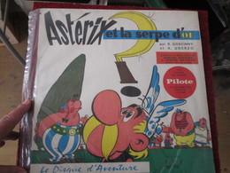 BACPLASTCAV Disque BANDES DESSINEE ANNEES 60 ASTERIX ET LA SERPE D'OR 33T 30cm - Disques & CD