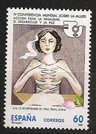 Espagne España 1995 N° 2974 ** Femme, Féminisme, Pékin, Chine, Mains, Fleur, Paix, Nations Unies, Droits, Egalité, Viol - 1991-00 Neufs