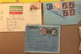 SALVADOR BRASIL MEXICO- Lot Of 3 Covers - Cover Used With Stamps 1925, 1931 Et 1953 - El Salvador