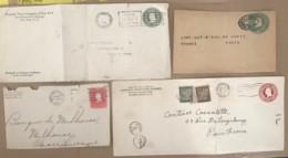 USA - Lot De 4 Entiers Postaux - 1901-20