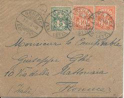SVIZZERA  LETTERA 3-2-07 GENEVE - FIRENZE - Poststempel
