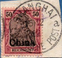 Deutsch Ämter China 1901 40 Pf Cancelled MH 2005.0312 German Offices - Bureau: Chine