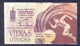 Lithuania - 1991 -.1 Litaures ..olimpic.. UNC - Lituania