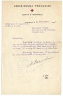 ARGENTEUIL  DOCUMENT  CROIX ROUGE  Comité D' ARGENTEUIL  1944 - France
