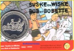 BELGIE - COINCARD 5 € 2020 BU - 75 JAAR SUSKE EN WISKE/BOB ET BOBETTE - RELIEF - Belgium
