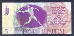 Lithuania - 1991 -.5 Litaures...olimpic.. UNC - Lituania