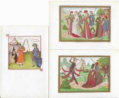 France Lot De 6 Cartes Postales Enluminures Couleurs Et Or - Jeanne D'Arc - Bibliothéque Nationale - - Bibliotecas