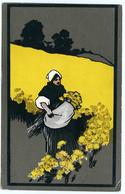 ARTIST CARD : DUTCH WOMAN HARVESTING DAFFODILS - Illustrators & Photographers