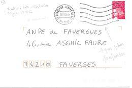 Lettre Empreinte De Ma Machine Toshiba 33 Bordeaux Centre De Tri 10.11.0319h - Marcophilie (Lettres)