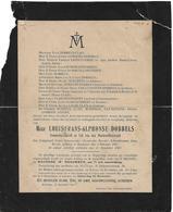 Rouwbrief   Louis Frans Alphonse  DOBBELS - Clais - Roeselare - Lid Werkrechtersraad - 1920 - Décès