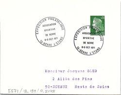 SPORTS  -  EXPO PHILATELIQUE ASSO SPORTIVE DE BERRE 8-9 OCT 1971 - BERRE L'ETANG 13 / 1 - Marcofilia (sobres)