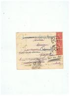 LETTRE DEPART POUR MILANO ITALIE FAUSSE ADRESSE RETOUR à LOUVIGNIES Par  BAVAY (NORD) 1929 - 1921-1960: Modern Period